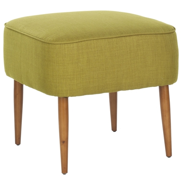 Safavieh Retro Green Linen Blend Ottoman