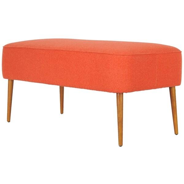 Safavieh Retro Orange Wool Bench