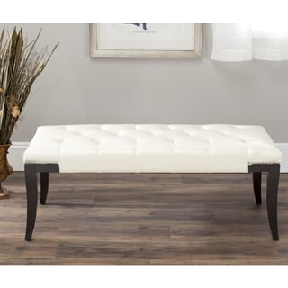 Safavieh Florence Cream Tufted Nailhead Bench