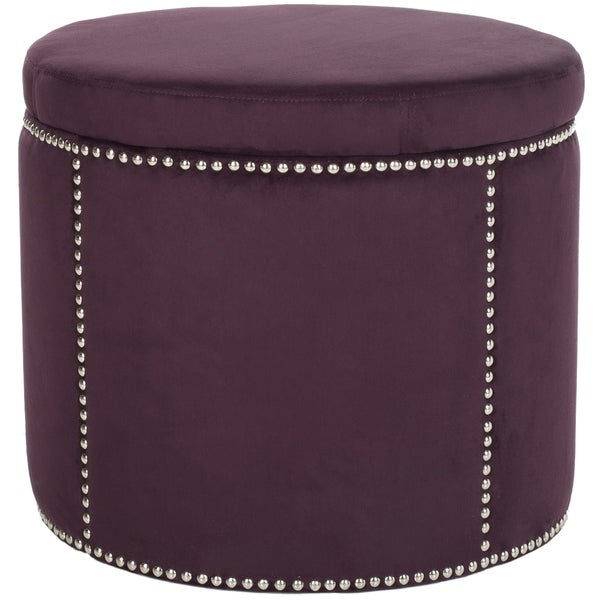 Safavieh Florentine Purple Nailhead Round Storage