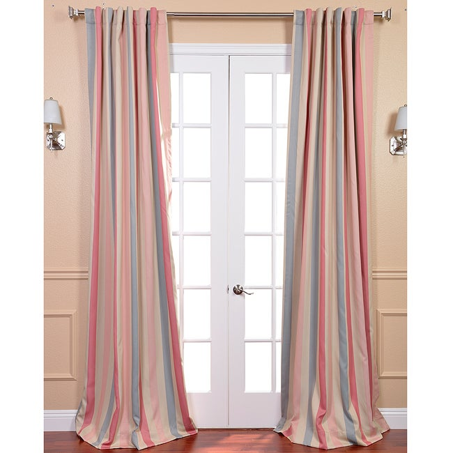 EFF Ambrosia Stripe Blackout Back-tab Pole Pocket Curtain Panel at Sears.com