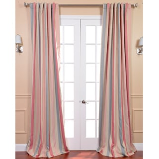 Ambrosia Stripe Blackout Back-tab Pole Pocket Curtain Panel