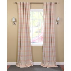 Peaches 'n Cream Blackout Back-tab Pole Pocket Curtain Panel