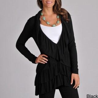 Grace Elements Women's Long Sleeve Ruffle Cardigan