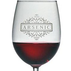 Halloween Arsenic 19-oz Wine Glasses (Set of 4)
