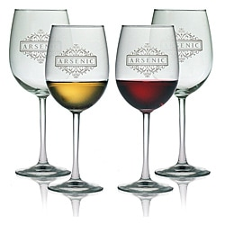 Halloween Arsenic 19-oz Wine Glasses (Set of 4)