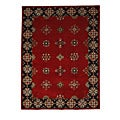 Hand-Tufted Tempest Red/Black Area Rug (8' x 11')