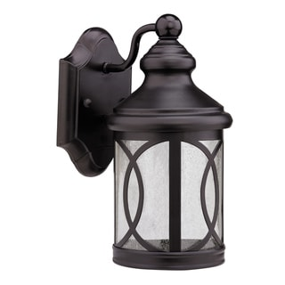 Corrosion-Resistant Transitional Dark Rubbed-Bronze One-Light Outdoor Wall Fixture