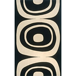Power-Loomed Soho Black Wool Rug (9' x 13')