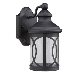 Transitional Black 1-light Outdoor Wall Fixture