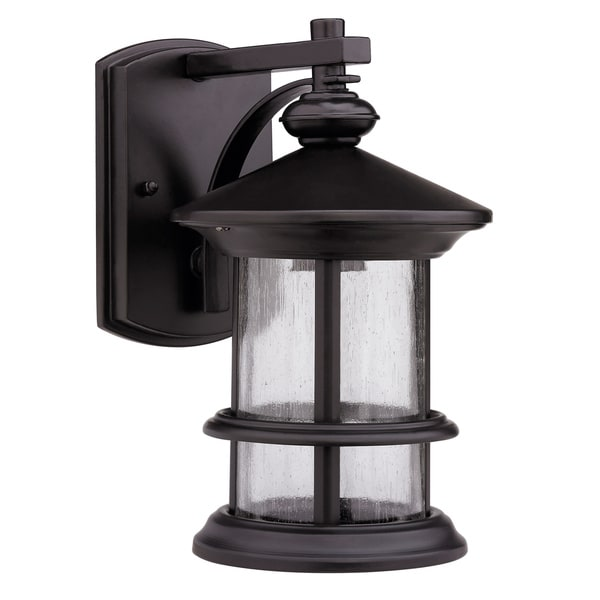 Transitional Rubbed Dark Bronze 1 Light Outdoor Wall
