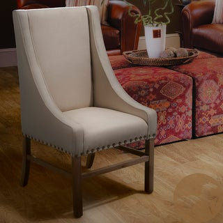Christopher Knight Home Daphne Studded Linen Accent Chair