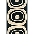 Power-Loomed Soho Black Wool Rug (5' x 8')