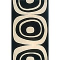 Power-Loomed Soho Black Wool Rug (3' x 5')