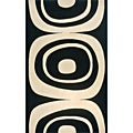 Power-Loomed Soho Black Wool Rug (2' x 3')