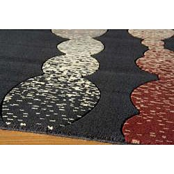 Power-Loomed Soho Modern Multi Wool Rug (5' x 8')