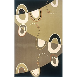 Power-Loomed Soho Abstract Multi Wool Rug (9'6 x 13')