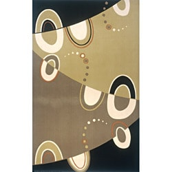 Power-Loomed Soho Abstract Multi Wool Rug (8' x 11')