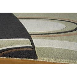 Power-Loomed Soho Abstract Multi Wool Rug (5' x 8')