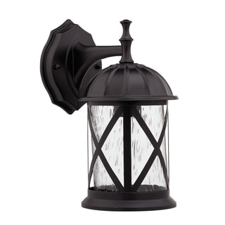 Transitional Rubbed Dark Bronze 1-light Weatherproof Outdoor Wall Fixture