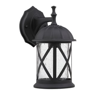 Transitional Black One-Light Aluminum Outdoor Wall Fixture