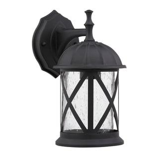 Transitional Black One-Light Aluminum Outdoor Wall Fixture