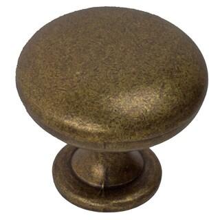 GlideRite 1.125-inch Antique Brass Cabinet Knobs (Case of 25)