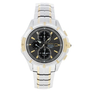 Seiko Men's 'Coutura' Steel/ Leather Watch