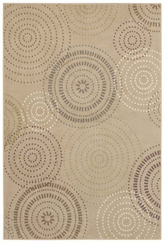 Tranquility Jules Beige Rug (5'3 x 7'10)