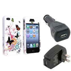 Autumn Flower Case/ Car Charger/ Travel Charger for Apple iPhone 4/ 4S
