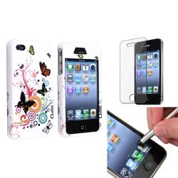 INSTEN Autumn Flower Phone Case Cover/ Silver Stylus/ Protector for Apple iPhone 4/ 4S