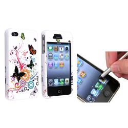 Autumn Flower Case/ Silver Stylus for Apple iPhone 4/ 4S
