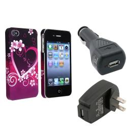 Protective Case/Travel Charger/Car Charger Adapter for Apple iPhone 4/4S