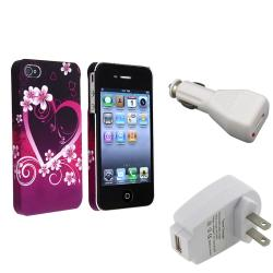 Case/ Travel Charger/ Car Charger Adapter for Apple iPhone 4/ 4S