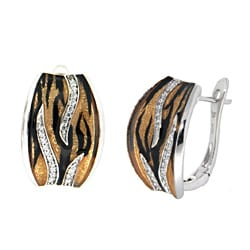 Pearlz Ocean Animal Print endless clasps with White Topaz Accents