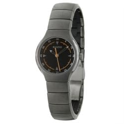 Rado Women's 'Rado True' Black-Dial Ceramic Swiss Watch