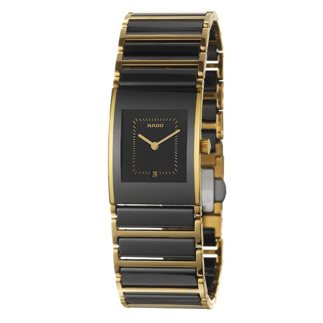 Rado Women's 'Integral' Black Stainless Steel Watch