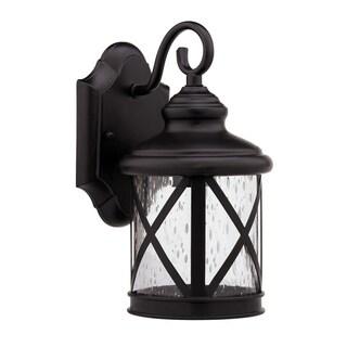 1-light Dark Rubbed Bronze Outdoor Wall Light