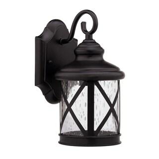 Transitional Rubbed Dark Bronze 1-light Outdoor Wall Light