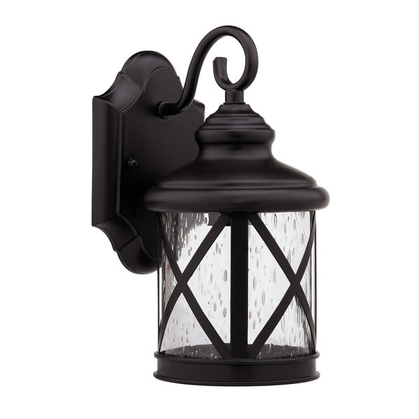 Transitional Rubbed Dark Bronze 1-light Outdoor Wall Light