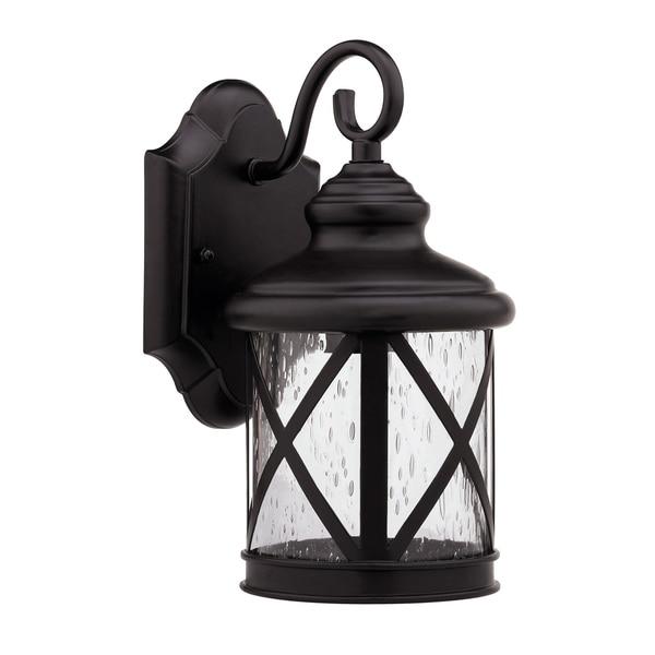 Chloe Transitional 1-light Rubbed Dark Bronze Outdoor Wall Light