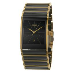 Rado Men's 'Integral' Black-Dial Gold-Plated Stainless Steel Watch