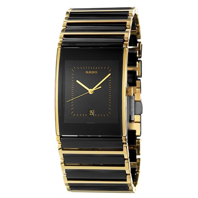 Rado Men's 'Integral' Goldplated Stainless Steel Watch