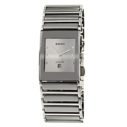 Rado Men's 'Integral' Silver-Dial Stainless-Steel Swiss Watch