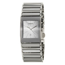 Rado Men's 'Integral' Silvertone-Hands Stainless-Steel Swiss Watch