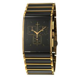 Rado Men's 'Integral' Gold-Plated Stainless Steel Ceramic Watch