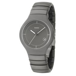 Rado Men's 'Rado True' Gray Ceramic Swiss Watch
