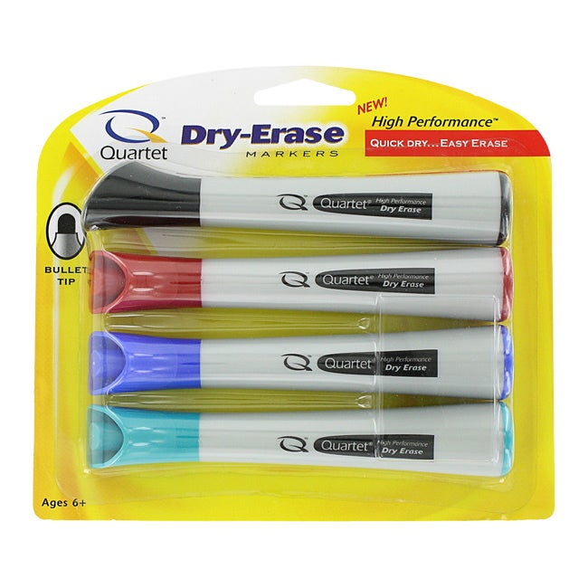 Quartet High Performance Bullet Tip Dry-Erase Markers