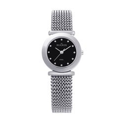 Skagen Women's Black Dial Stainless Steel Watch