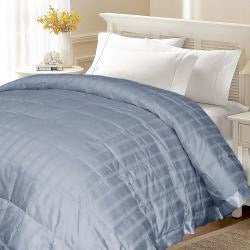 Windowpane 300 Thread Count Cotton White Down Blanket